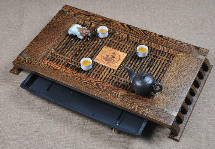 Wenge Tea Tray Displaying And Serveing Tea Tea Tray Handicraft Chinese Congou Tea Set Chinese Teaism Practice.