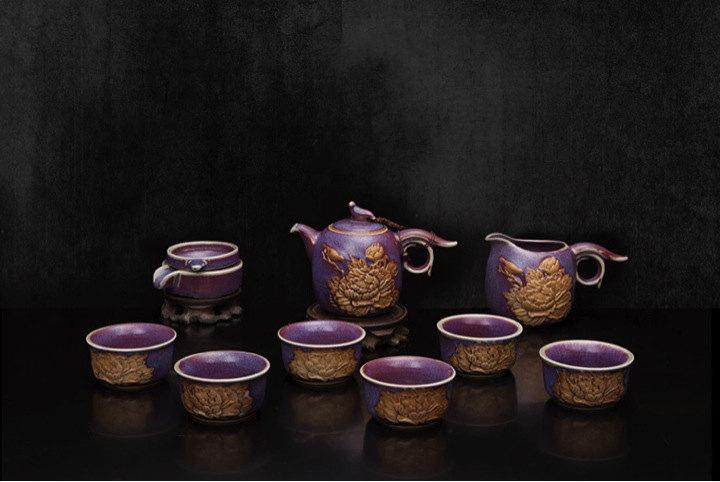A Complete Set Of Jun Porcelain Tea Sets Premium And Treasure Tea Pot Experence China Tea Ceremony