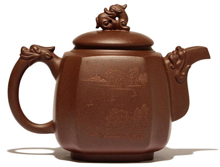 Ba Fang Teapot Premium And Treasure Tea Pot Handmade Zisha Clay Teapot Guaranteed 100%Genuine Original Mineral Fired