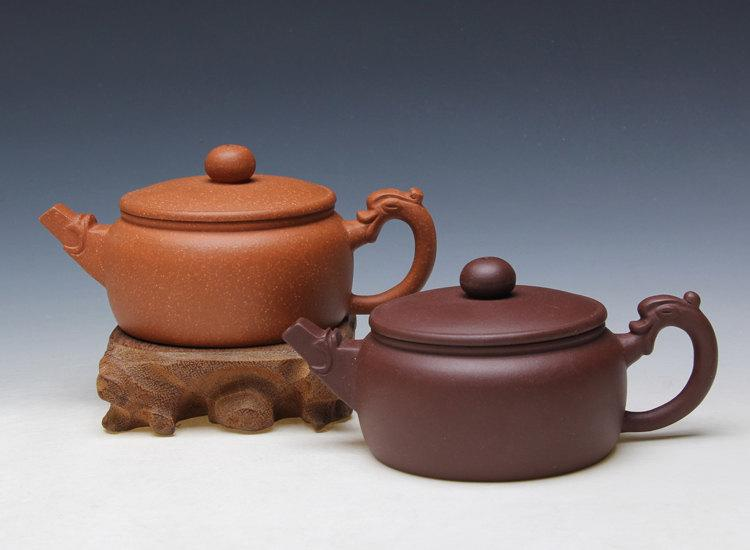 Double Dragon Teapot Chinese Gongfu Teapot Yixing Pottery Handmade Zisha Teapot Guaranteed 100%Genuine Original Mineral Fired