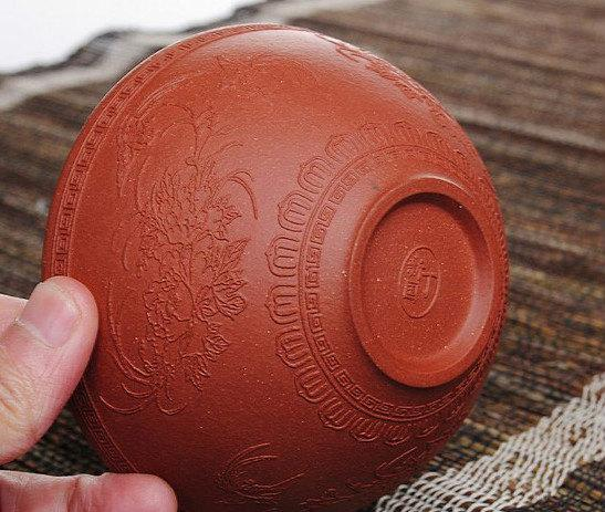 2 Yixing Zisha Clay Bowl Chinese Gongfu Tea Set Handmade Tea Set Guaranteed 100%Genuine Original Mineral Fire