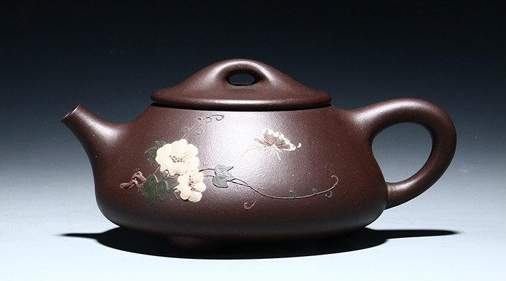 Shi Piao Teapot Chinese Gongfu Teapot Yixing Pottery Handmade Zisha Clay Teapot Guaranteed 100%Genuine Original Mineral Fired