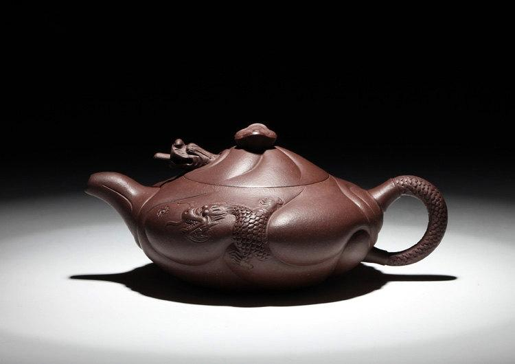 Yu Hua Long Teapot Chinese Gongfu Teapot Yixing Pottery Handmade Zisha Teapot Guaranteed 100%Genuine Original Mineral Fired