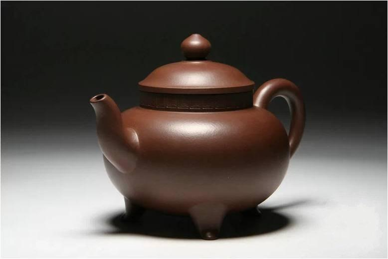 Three Feet Teapot Chinese Gongfu Teapot Yixing Zisha Pottery Handmade Zisha Clay Teapot 100%Genuine Original Mineral Fired
