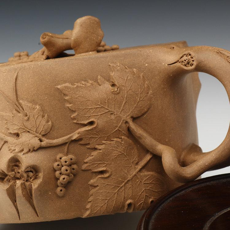 Pu Tao Teapot Premium And Treasure Yixing Zisha Pottery Handmade Zisha Clay Teapot Guaranteed 100%Genuine Original Mineral Fired