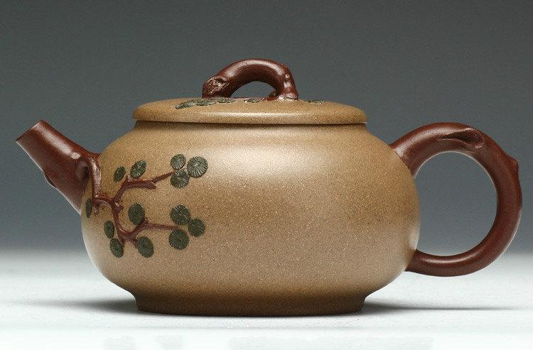 Evergreen Teapot Chinese Gongfu Teapot Yixing Pottery Handmade Zisha Clay Teapot Guaranteed 100%Genuine Original Mineral Fired