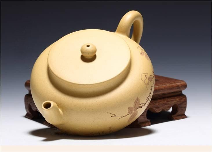 Double Lines Teapot Chinese Gongfu Teapot Yixing Pottery Handmade Zisha Teapot Guaranteed 100%Genuine Original Mineral Fired